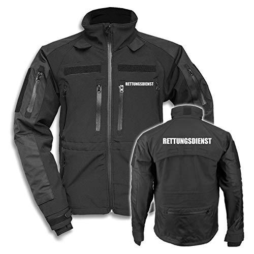 Copytec Tactical Softshell Jacke Rettungsdienst Bereitschaft Medic Mediziner #27830, Größe:XL, Farbe:Schwarz