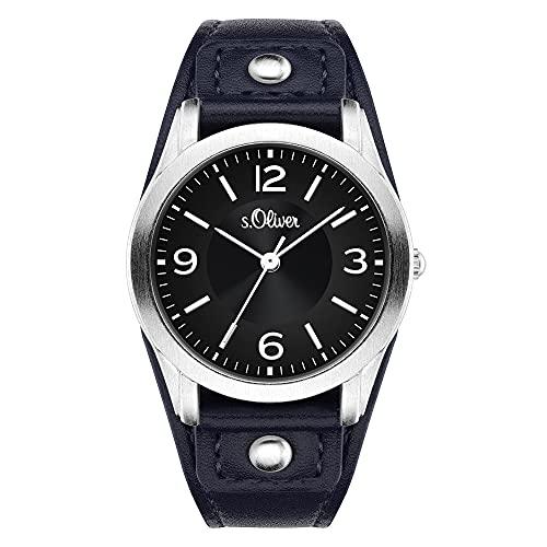 s.Oliver Damen-Armbanduhr SO-3241-LQ (Dunkelblau)