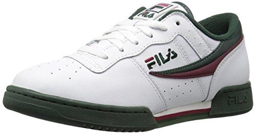 Fila Girls Original Fitness Fashion Sneaker, White/Sycamore/Black Red, 11.5 Little Kid