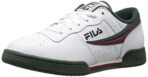 Fila Girls Original Fitness Fashion Sneaker, White/Sycamore/Black Red, 11.5 Little Kid