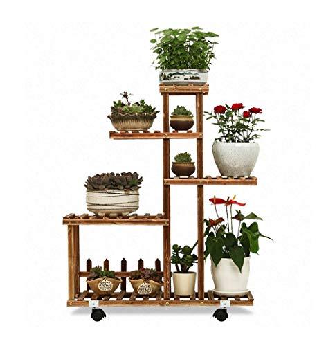 5-stufiger Massivholz-Blumenständer Multifunktionsregal im Garten im Freien oder im Wohnzimmer Wohnzimmer Balkon und Boden stehender Topfständer (Farbe: # 4)