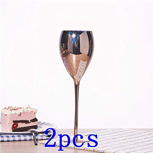Rose Golden Crystal Goblets Wijn Glas Sap Drink Champagne Goblet Party Barware Diner Water Home Decor Chic Luxury,2 pcs, 420ML