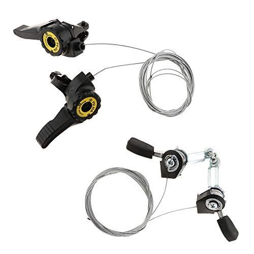 B Baosity 2 Pairs Bike Bicycle Thumb Shifter Shift Levers Replacement 3 x 5/6/7 Speeds, MTB Bike Thumb Gear Shifter Top Mount Shifters