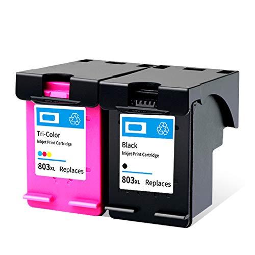 Cartucho de tinta 803XL, repuesto de alto rendimiento para HP Deskjet 1111 1112 2131 2132 2621 2622 ENVY 5020 OfficeJet 5220 5264 impresora de inyección de tinta negra y tricolor 1 negro 1 tricolor