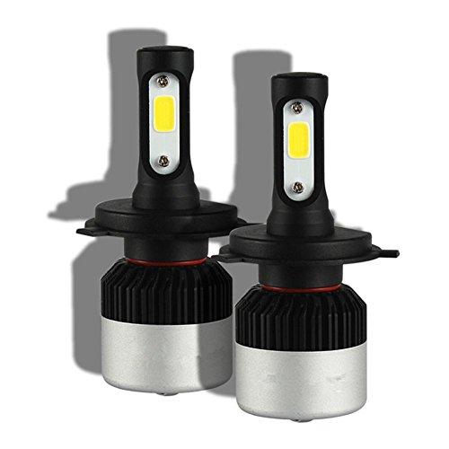 MTTLS KDGWD Fari auto LEDKit di conversione delle lampadine LED - H4 72W 9000LM Cool White CREE - Faretto LED automobilistico, h7