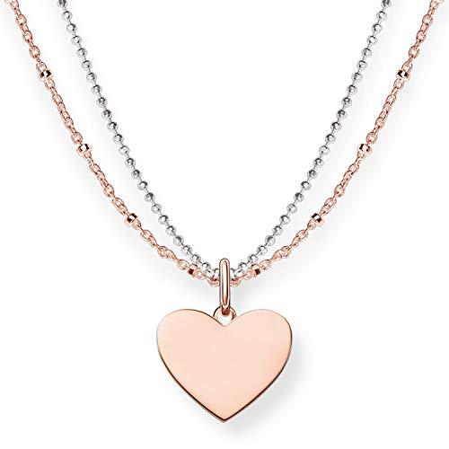 THOMAS SABO Damen-Kette Love Bridge Herz 925 Sterling Silber Länge 40-45 cm LBKE0004-415-12-L45v