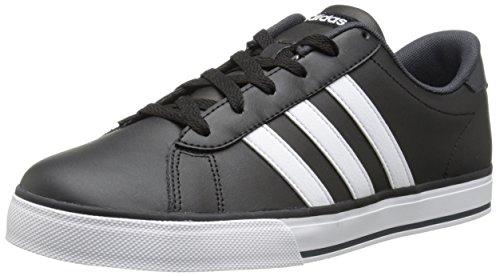 adidas NEO Men's SE Daily Vulc Lifestyle Skateboarding Shoe,Black/White/Dark Grey,8 M US