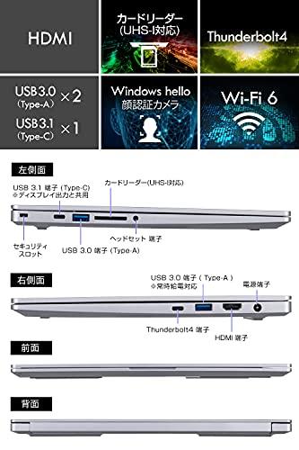 mouseクリエイター14型WUXGAノートパソコンDAIV(Corei71165G7/IrisXe/32GB/512GB/10Pro)DA-N-H473SIXIPZM【Windows11無料アップグレード対応】