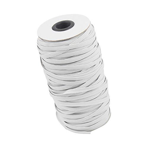 Faplu クラフト製品のゴムバンド, フェイス顔の保護の幅のためのゴムひもはゴムひも14m / 3mm広いゴムひもを作ります自家製の洋服縫製耐久性のある織ロープ弾性バンド超弾性ブロードバンドのロール