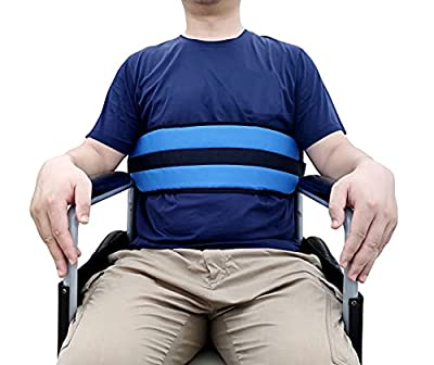 Wisexplorer Medical Waist Restraint Wheelchair Seatbelt, Adjustable Wheelchair Harness Strap with Quick Release Buckle and Padded Design for Elderly Safety Care(Blue) from Wisexplorer