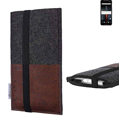 flat.design Vegan Phone Sleeve SINTRA For Asus ROG Phone II - Case Cork Etui Fair Cover Bag Felt