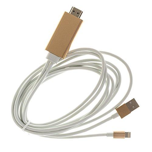 Silica DMV120GOLD DMV120GOLD - Cable hdmi para iPhone/iPad Lightning 8 Pins Gold