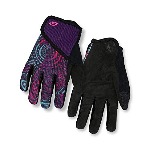 Giro DND Jr II Youth Mountain Cycling Gloves - Blossom (2021), Large