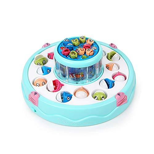 Xyanzi Bébé Jouets Jeu De Pêche Ensemble De Jouets, Plateau Rotatif À Double Couche (sans Batterie) pour Kids 3-12 Addictive Family Fun