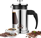 Instalite French Press Coffee Maker (600 ml) with 4 Level...