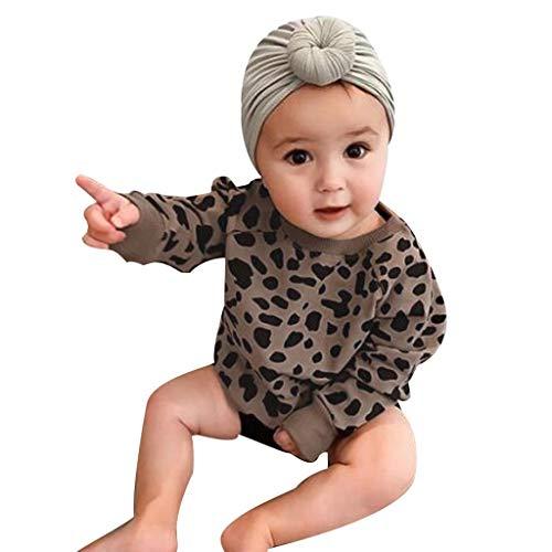 Obestseller Kinder-Langarmpullover Langärmliges Top mit Leopardenmuster Baby Herbst Sweatshirt Unisex Baby Overall für 0-24 T-Shirts & Blusen(2020 Jahr Weihnachten)
