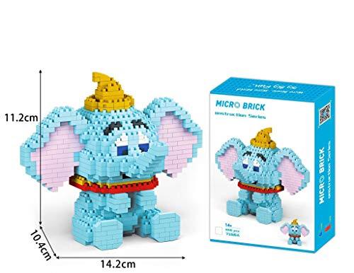 Zenghh Creatività in miniatura l'insieme della Blu Dumbo Modello 3D Bambino Puppet Puzzle Kit Consiglio del fumetto animale giocattolo educativo Paw Patrol Gioco Elephant Ventilatori Dolls, Crafts Col
