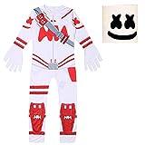 DJ Marsh Costume Halloween Christmas Cosplay Disfraces ajustados Mono con máscara Ideal para niños Cosplay Party Dress Up