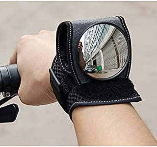 COOLOH Yannuo Trading Wrist Wear Bike Mirror, Portable 360 Degree Adjustable Bicycle Wrist Band Rear View Mirrors, Safety Rearview Cyclists Mountain Road Riding Cycling Accessories