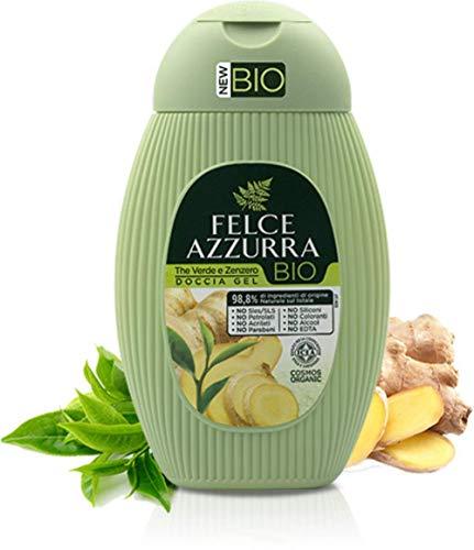 Felce Azzurra BIO Duschgel Grüner Tee & Ingwer - Duschgel für den erfrischenden Start in den Tag, 250 ml