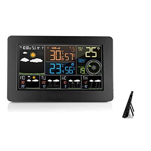 LICHUXIN Wetterstation Produkt ist schwer 600g Multifunktions-Sensor displaymoon Größen 20.5 * 3 * 13cm Anzeige und Alarmzyklus Spiegeltakt Touch kann mit 3 Sensoren gleichen Zeit ausgestattet Werden