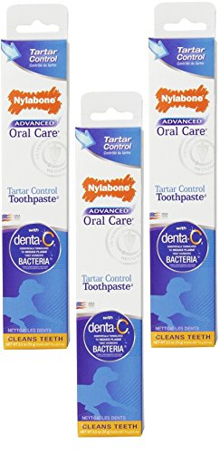 Nylabone Dental Advanced Oral Care Tartar Control Toothpaste Pack of 3