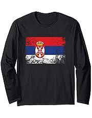 Bandera serbia - Republic of Serbia Flag Manga Larga