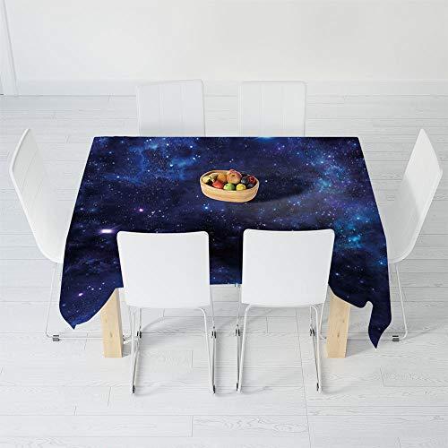 TecBillion Nicht verblassende Tischdecke, Totenkopf-Dekoration, für Tisch, Outdoor, Picknick, Urlaub, Abendessen, Fische mit Lotusblumen, traditionell östlich 84 X 70.1 Inch Multi 143