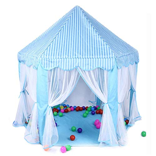 Hexagonal Tent House, Baby's Sleeping Tent Anti-mosquito Gauze Tent Bedroom Nap Tent/Blue, Pink/140 * 140 * 140 CM Kids Toy Tent (Color : Blue, Size : 140 * 140 * 140CM)