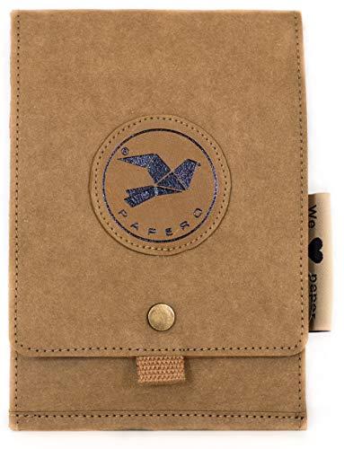 Papero ® Umhängetasche aus Kraft- Papier Reise Brusttasche mit RFID | Ultra minimalistisch Herren Damen, Robust, Wasserfest Vegan fair nachhaltig Urban Style FSC Zertifiziert |