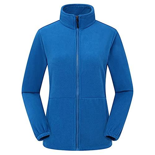 Mountainskin - Chaqueta térmica para hombre y mujer, forro polar, para senderismo, deportes al aire libre, escalada, azul, M