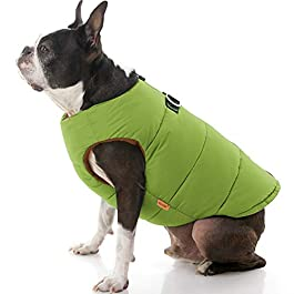Gooby Padded Cold Weather Vest for Dogs with Safe Fur Guard Zipper Closure,