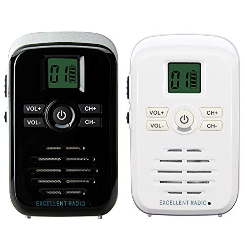 Wireless Caregiver Pager for Elderly Patient 2 Way Radio Intercom System for Room to Room Intercommunication 16 Channels 2 Miles Long Range Indoor Outdoor