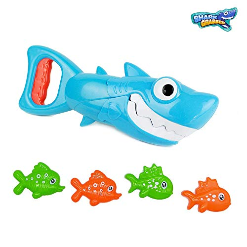 INvench Shark Grabber Baby Bath Toys - Blue Shark...