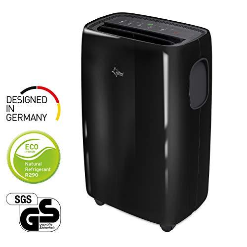 Mobiele lokale airconditioner Progress 9.000 R290 | voor ruimten tot 80 m³ (34 m²) | incl. luchtafvoerslang | koeler en ontvochtiger met milieuvriendelijk koelmiddel R290 | 9.000 BTU/h, energielabel A | Suntec Wellness
