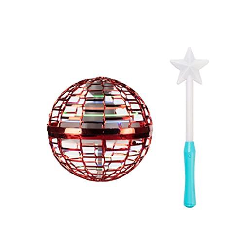 Passando drone,palla da volo del giocattolo fresco all'aperto,palla del drone della ruota a mano,classificazione della ruota volante palla volante,palla del drone del bosco blu con la bacchetta magica