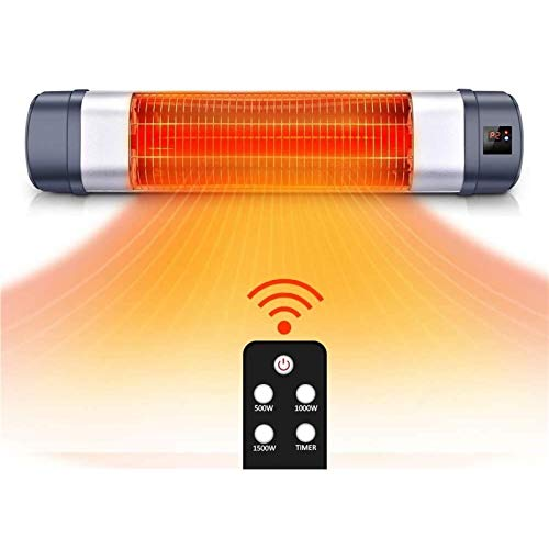 TRUSTECH Patio Heater - Adjustable 1500W Infrared Heater, Electric Heater w/1s-Fast Heating & Remote Control, 12H Timer Overheat Protection, Super Quite Space Heater in/Outdoor