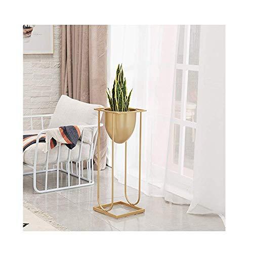SXYULQQZ Nordic Woonkamer Interieur Smeedijzeren Plant Stand Bloem Balkon Moderne Minimalistische Groen Frame Verhoogde Vloerpot Rack (kleur : Goud, Maat : L)