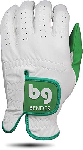 Bender Gloves Elite Cabretta Golfhandschuhe, Links getragen, grün, XX-Large