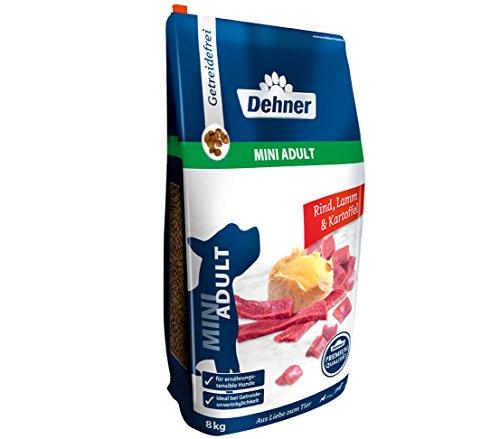 Dehner Premium Hundetrockenfutter Mini Adult, Rind und Lamm mit Kartoffel, 8 kg