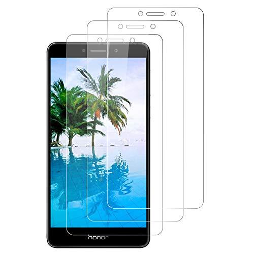 SNUNGPHIR 3 Pezzi, Vetro Temperato Compatibile con Huawei Honor 6X, Pellicola Prottetiva Anti Graffio, Anti-Impronte, Durezza 9H, 0,33mm Ultra Trasparente, Ultra Resistente