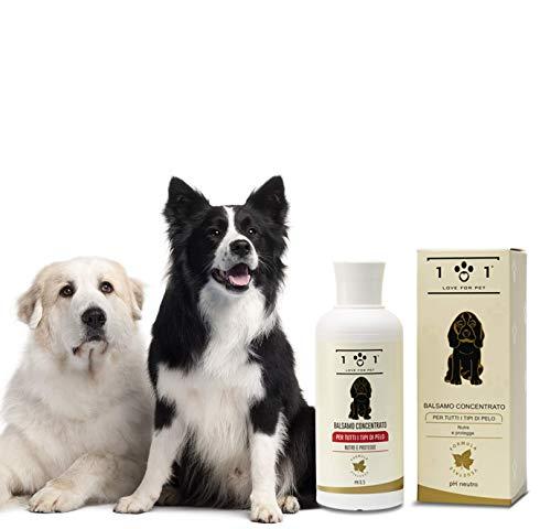 Bálsamo Concentrado Natural y Vegetal, 250 ml - para Perros y Gatos - Suaviza el Pelaje y facilita el Peinado - Apto para Todo Tipo de Cabello, Linea 101