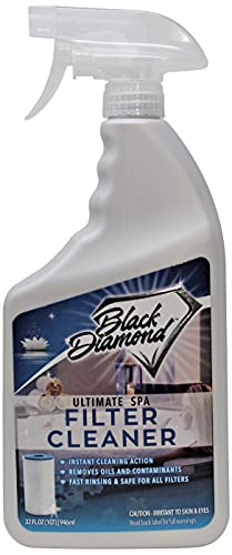 Black Diamond Stoneworks Ultimate Spa Filter Cleaner Fast-Acting Spray for Hot Tub, Jacuzzi & Pool Filters.