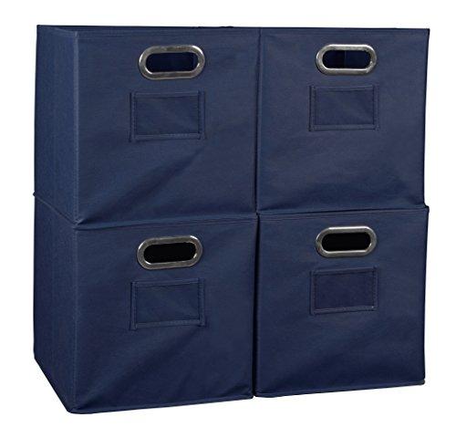 Niche Set of 4 Cubo Foldable Fabric Bins- Blue