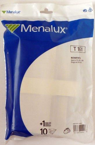 Menalux T161 10 Sacs Aspirateur Compatible pour Rowenta + 1 Micro Filtre