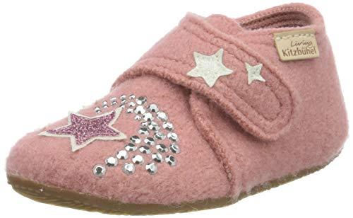 Living Kitzbühel Jungen Mädchen Babyklettschuh Einhorn & Stern Hausschuh, Ash Rose, 25 EU