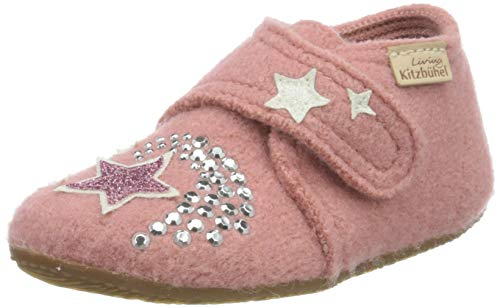 Living Kitzbühel Jungen Mädchen Babyklettschuh Einhorn & Stern Hausschuh, Ash Rose, 27 EU