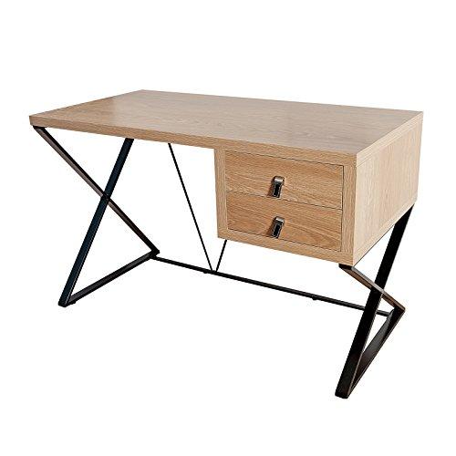 DESIGN DELIGHTS BÜRO Schreibtisch Architekt | MDF, Metall, 120x75x60 cm | Holz Bürotisch, Computertisch
