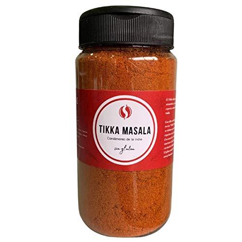 Tikka Masala TodoEspecias 150g - Sin gluten - 100% Natural: sin sal ni aditivos - Bote Especiero con 2 dosificadores