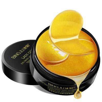 Preisvergleich Produktbild 24k Gold Kollagen Augenmaske,  Hydra-Gel Hauttherapie Eye Pads 60pcs